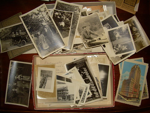 Box of vintage photos