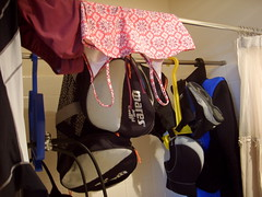 Scuba gear drying.