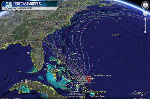 Tropical Storm Hanna - 6am 9/01 Forecast Models
