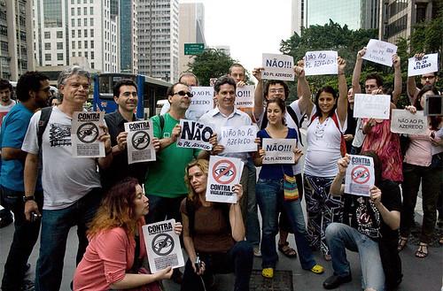 flashmob contra projeto de lei Azeredo