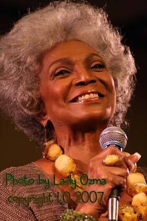 My photograph of Uhura from Star Trek, Nichelle Nichols.