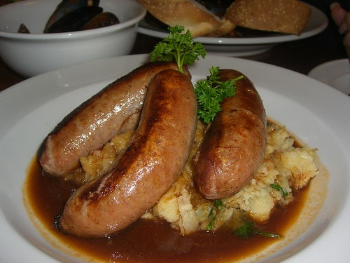 Pork Sausages and Parsnip and Winter Vegetable Mash - Queenscliff Inn