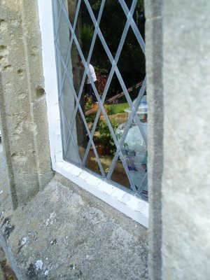 dining room window at grans house
