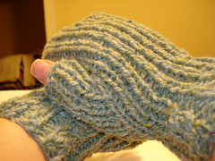 Hannahs Cool Little Llama-Silk Mittens
