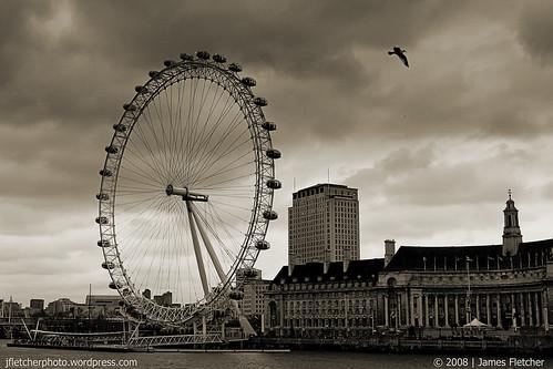 London Eye Sepia