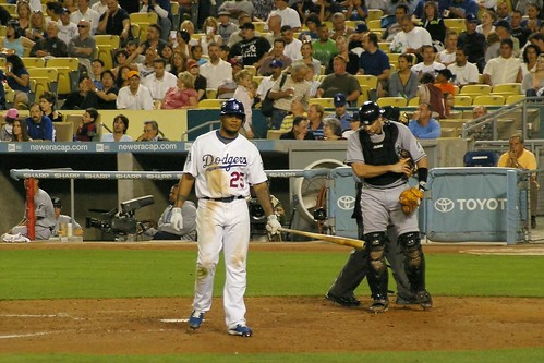 Andruw Jones with a long walk back to the dugout after yet another strikeout (kla4067/Flickr).
