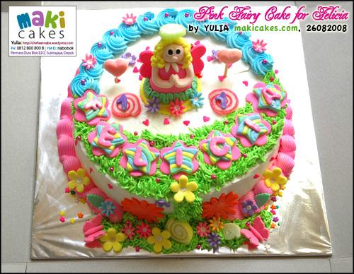 Pink Fairy Cake for Felicia - Maki Cakes