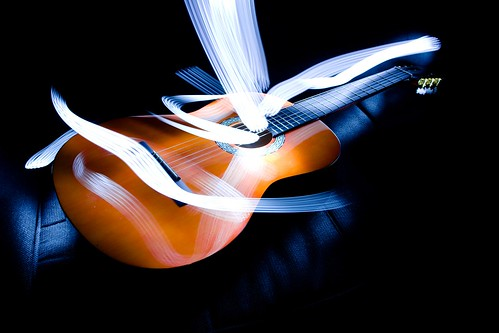 neon guitar light by gnackgnackgnack