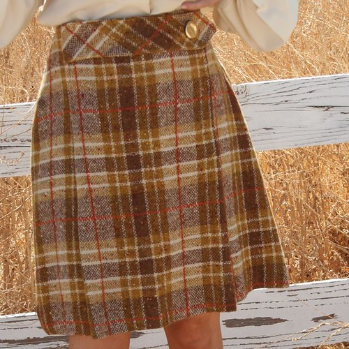 Vintage 60's Plaid Mini Skirt