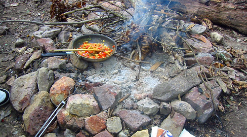 20080927 - camping - 169-6920 - breakfast cooking - please click through to leave a comment on FlickR