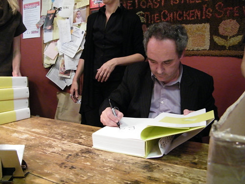 Ferran Adria at the Cooks Library by MyLastBite.com