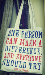 ONE PERSON CAN MAKE A DIFFERENCE, AND EVERYONE...