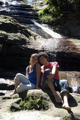 Descansando en las Katoomba Falls