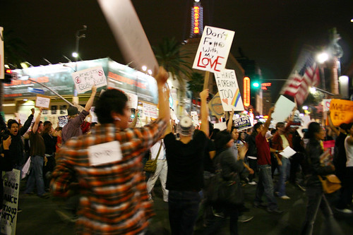 NO on Prop 8 Protest 11/08/08