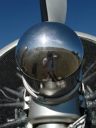 Self Portrait in Propellor Hub