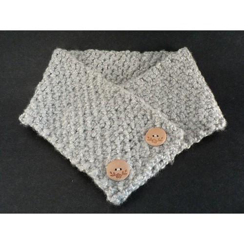tunisian crochet scarflet