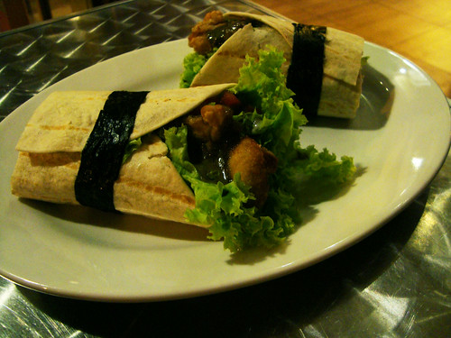 Karaage Chicken Vegetable Wrap by Kozui Green Tea