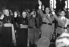 Nazi Priests Salute Hitler