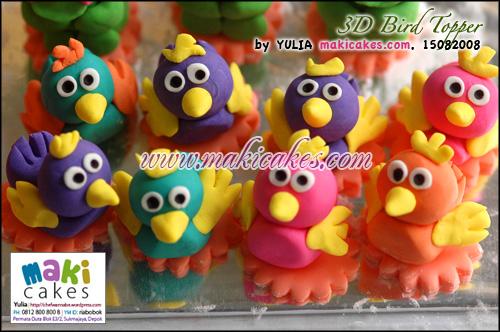 3D Bird Topper - Maki Cakes