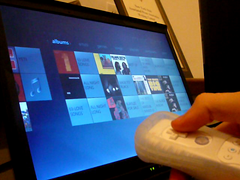 Windows Media Center controlled by Wiimote