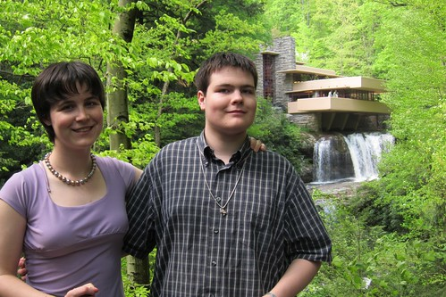 Jessica and Paul at Fallingwater Frank Lloyd Wright