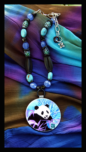 The Bamboo Blues...necklace and earring set by Sandra Miller