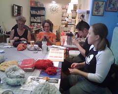 MNRG Knitting at Crafty Planet, 10/25/08