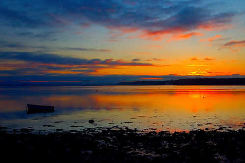 Sunset over Findhorn Bay