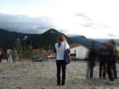 Azure taking a picture of the Bogota Sunset