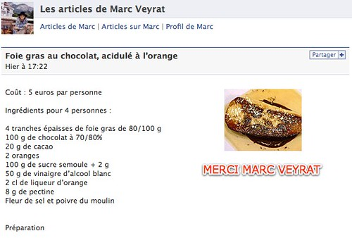 Facebook | Les articles de Marc Veyrat by you.