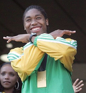 Caster Semenya triumphant, returning home
