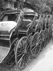 foot rickshaws