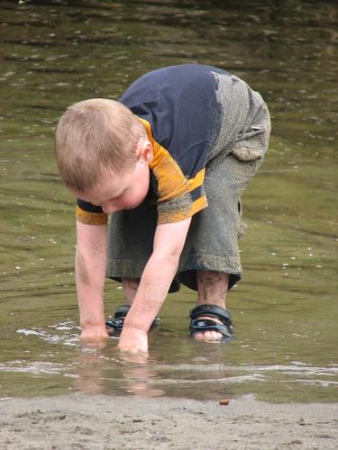 Jacob at creek