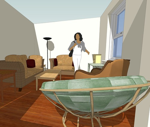 Sketchup model of living room