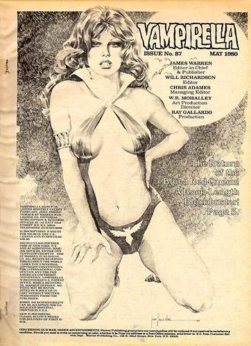 La Vampirella con la bembita al estilo Farra Fawcett. Estos dibujos tan bien detallados donde los pezones se perciben por encima del trajebaño me influenciaron bastante.