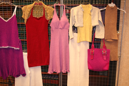 It Girl Knits garments on display