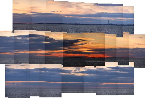 Provincetown Harbor horizon just after dusk (folded) by Chris Devers.