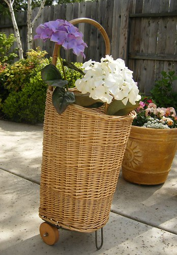 basket on wheels