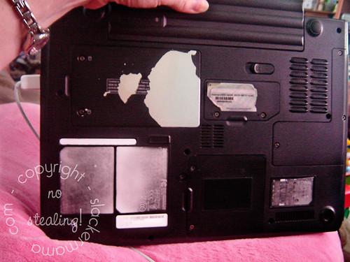Underside of Dell Laptop