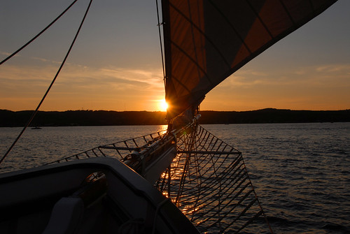Traverse Bay sunset from the Madeline  by Jim Sorbie
