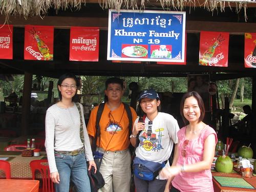 Group photo at Khmer Family Restaurant