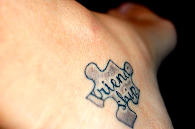 Friendship Tattoo. On the inside of my left foot.