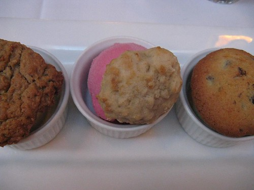 trio of ice creams with cookies