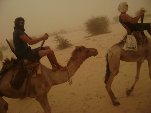 Headed back to Timbuktu in the sandstorm.