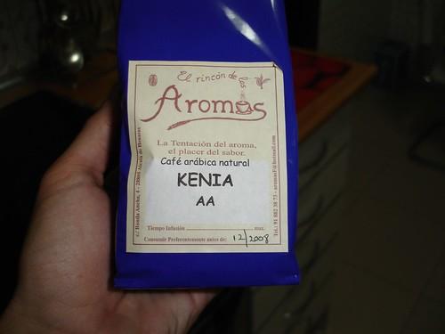 El café (en este caso de Kenia)