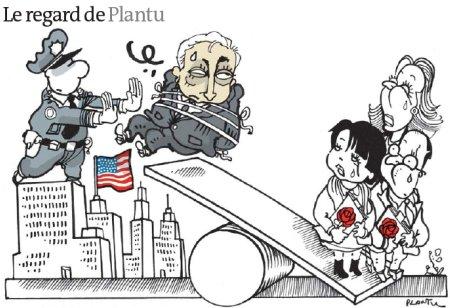 11e16 El escándalo DSK visto por Plantu en Le Monde