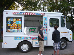ice cream truck, side