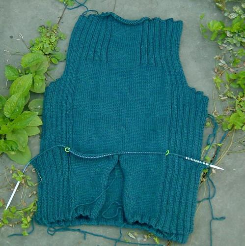 husband's sweater progress