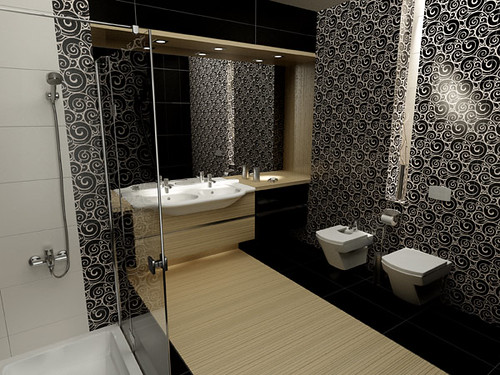 Bathroom design for Roca producer, by InsideLab by InsideLab.