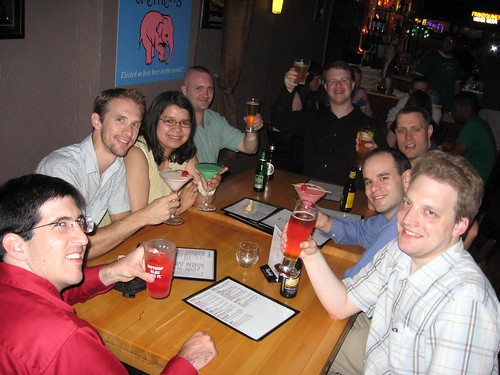 Celebrating at Cooper's